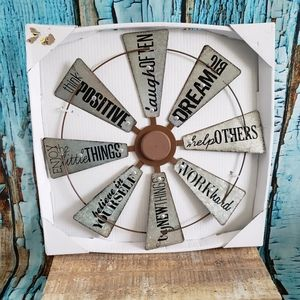 Farmhouse galvanized windmill home decor